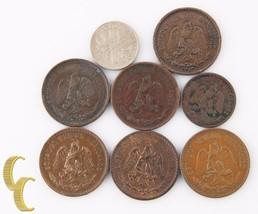 1906-1935 Mexico 2 Centavos Lot (F-AU, 7 coins) +Bonus 1883 Coin! 2c KM-... - $117.81