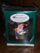 Hallmark Keepsake Rudolph's Helper Elf Gnome Ornament 1996 Collectors Club Mini - $13.29