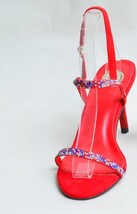 Red Double Stripe Open Sandal image 1