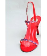 Red Double Stripe Open Sandal - $80.00