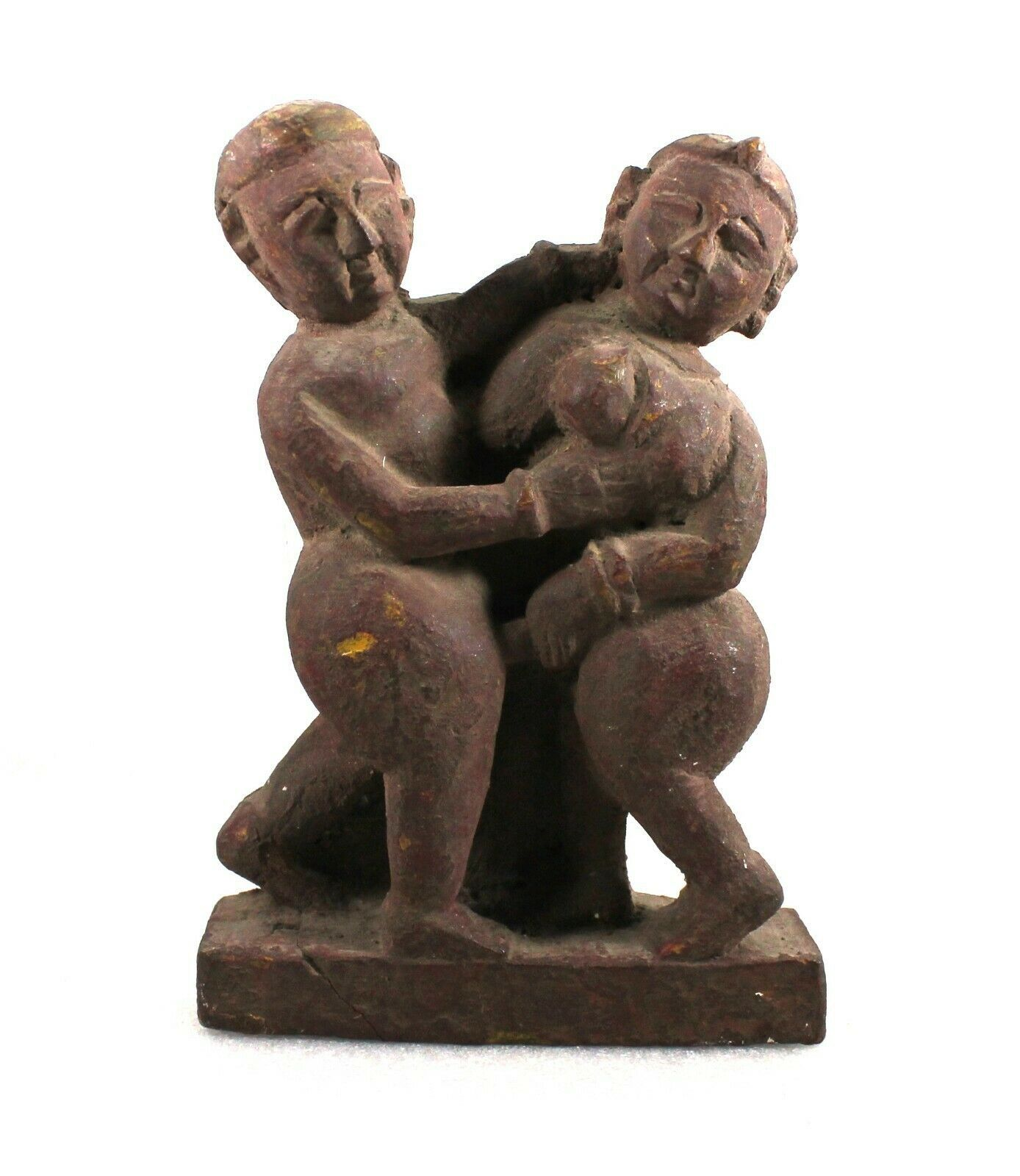 Primary image for Erotic Wooden Statue Figure Old Antique Handmade Vintage Sculpture Collectible
