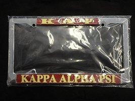 Kappa Alpha Psi Fraternity Silver Car License Plate Metal Frame - $21.77