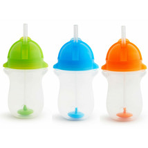 Munchkin Click Lock Any Angle 3 Piece Weighted Straw Cup Babys kids Sipp... - $35.00