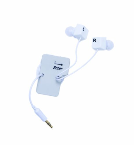Primary image for DCI 30277 Keyboard Keys Earbud and Cord Wrapper Set - Retail Packaging - White