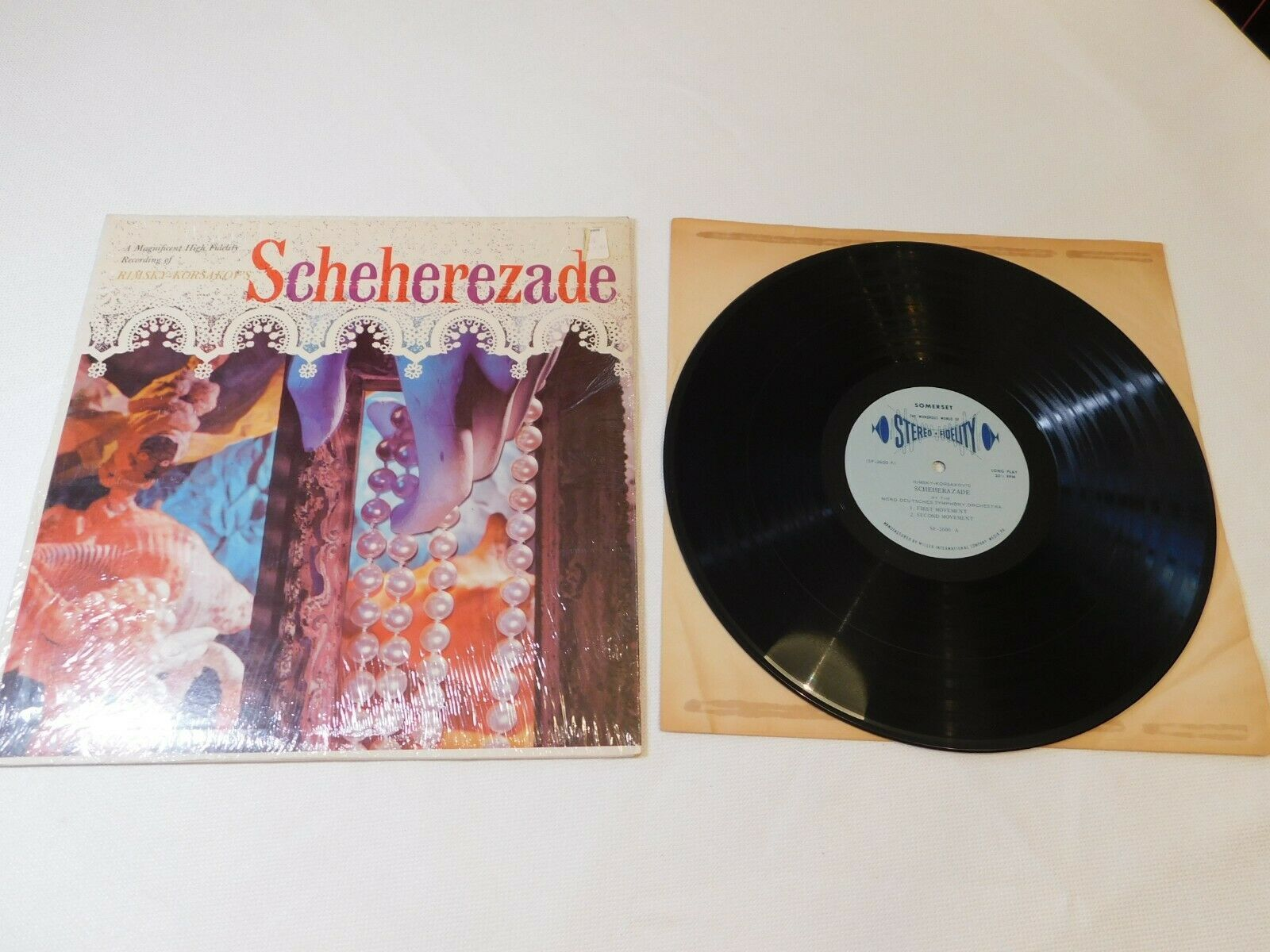 Nikolas Rimsky-Korsakov's Scheherazade Record LP SF-2600 First Movement Second M
