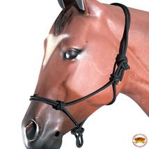 Black Horse Halter Braided Poly Rope Western Tack By Hilason U-A401 - $18.47