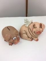 Flying Pig collectible Telle M. Stein Memorial Figurine with bonus piggy... - $51.58