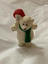 "1990 Hallmark New Christmas Papa Polar Bear & Child Merry Miniature 2"" QFM1673 - $18.61"