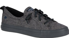Sperry Top-Sider Women's Crest Vibe Tweed Dark Gray Slip-On Sneaker Shoes NIB