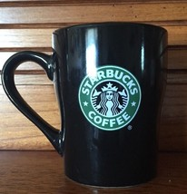Starbucks Coffee Beautiful Glossy Black Diner Mug 2008 Tea Cup 8 Ounces - $9.70