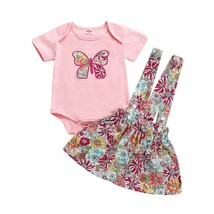 Summer 2019 Newborn Baby Girl Clothes Butterfly Romper Top Short Sleeve ... - $11.99