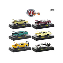 Detroit Muscle 6 Cars Set Release 44 IN DISPLAY CASES 1/64 Diecast Model... - $53.16