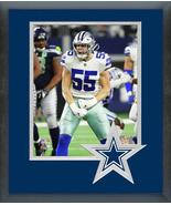 Leighton Vander Esch 2018 NFC Wild Card Game-11x14 Team Logo Matted/Fram... - $43.55