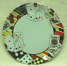 Gibson Melamine Dinnerware Bridge Playing Cards Dinner Plate Tableware - $16.82
