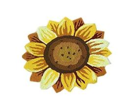 Custom Floor Mat Sun Flower Anti-Slip Living Room Rug 27.5''23.5'' - $38.32