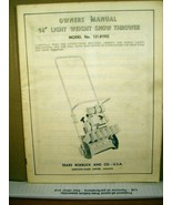 """Owners Manual 14"""" Light Weight Snow Thrower Model No. 131.81932 Sears Ro... - $8.99"""