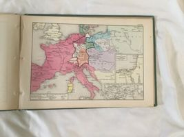 Antique Hardcover 1874 Historical Atlas 100 World Color Maps Labberton image 10