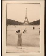 WILLY RONIS Photograph Champs de Mars Paris 9x12 Lithograph Portfolio Print - $23.19
