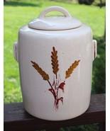 Vintage McCoy Mid Century Eames Era Wheat Ceramic Pottery Cookie Jar Lid - $69.29