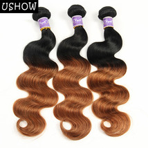 Ombre Peruvian Hair Body Wave 3Bundles 1B/30 2 Tone 100% Human Hair Exte... - $9.99+