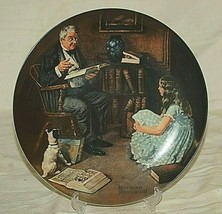 Norman Rockwell The Storyteller Collector Plate Edwin M Knowles F19645 - $19.79