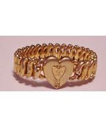 Vtg Signed Pitman & Keeler Expansion Bracelet Gold-tone Metal Engraved H... - $19.75