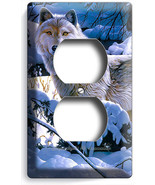 WILD GRAY WOLF WINTER SNOW FOREST OUTLET WALL PLATES COVER ROOM HOME CAB... - $8.99