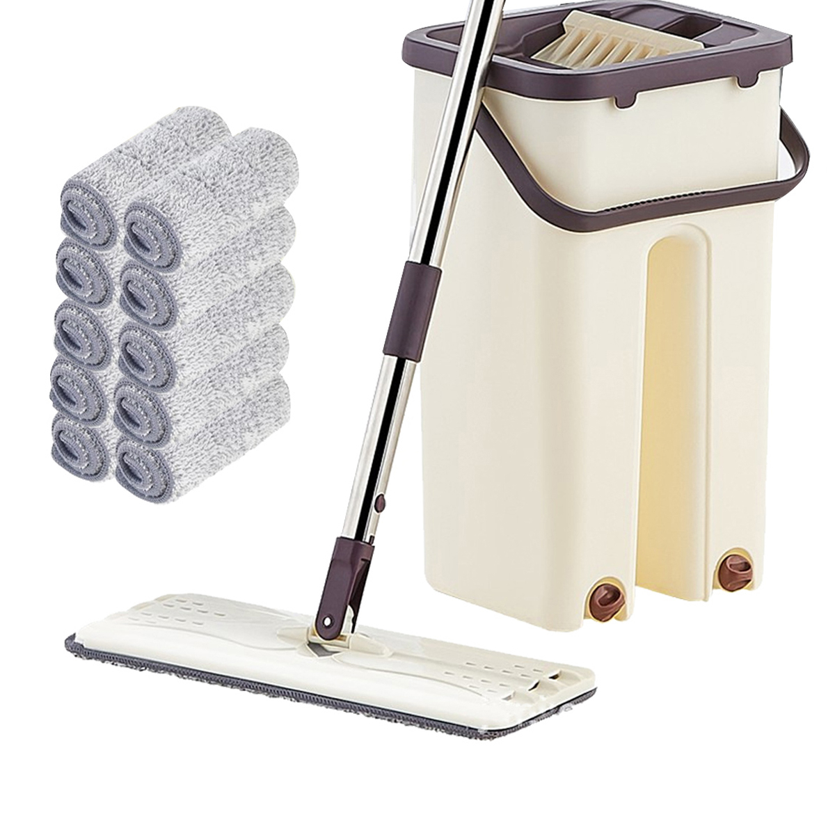 Hand-Free Wringing Floor Cleaning Mop Wet/Dry Magic Automatic Spin Self Cleaning - $13.38 - $41.36