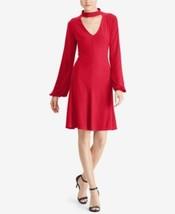 American Living Dress Sz 14 Red  Choker Fit & Flare Jersey  Dress Bishop... - $37.35