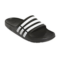 Adidas Duramo G15890 Black White Slides Sandals Flip Flops Shower Pool S... - $26.95
