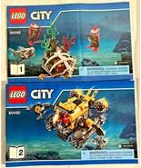 LEGO City Deep Sea Submarine #60092 **Instruction Manuals #1 & #2 Only** - $3.95