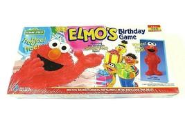 1997 SEALED Elmo's Birthday Game Board Game (Ages 3 to 6) w/ Elmo Figure - $29.66