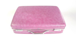 "Vintage Purple American Tourister Hardside Suitcase Luggage Pink Lining 24"" - $123.75"