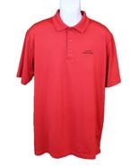 Callaway Men's Short Sleeve Button Down Golf Polo Shirt Opti-Dri Red Large  - $10.89