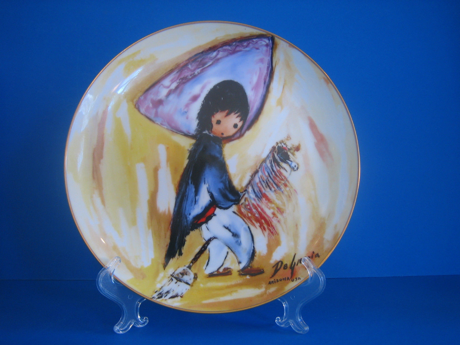 De Grazia Collectible Plate My First Horse Edwin Knowles 1985
