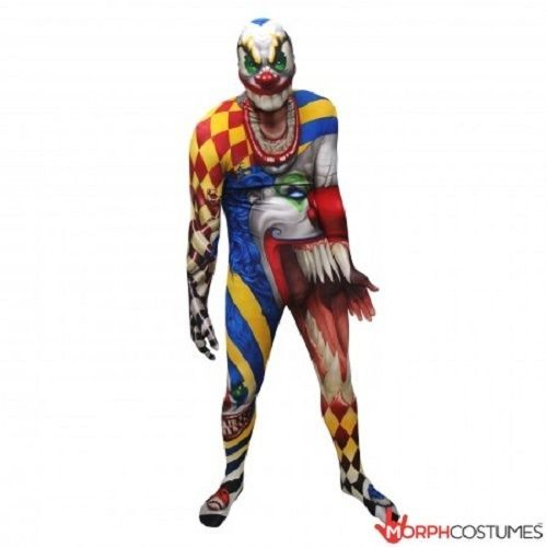 Morphsuit Pagliaccio Spaventoso Monster Adulto Body Halloween Costume di Qualità