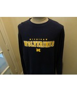 Vtg Blue Pro Player Michigan Wolverines L/s Thermal Shirt NCAA Adult XL ... - $34.64
