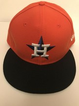 Houston Astros New Era ALT 59Fifty Fitted Orange Hat Size 7 1/2 On Field... - $32.67