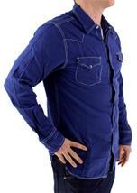 NEW LEVI'S MEN'S LINEN LONG SLEEVE BUTTON UP CASUAL DRESS SHIRT BLUE 8151400 image 4