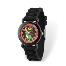 Disney Kids Toy Story Rex Time Teacher Black Silicone Band Watch - $36.00