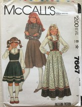 McCall's 7667 Girls' Jumper & Blouse Size 7 - $6.99