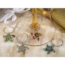 Murano Art Deco Collection Starfish Design Wine Charms - 12 Sets - $42.95