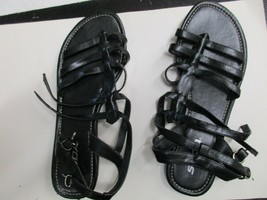 SODA Sandals black leather straps Size 8 never worn - $13.99