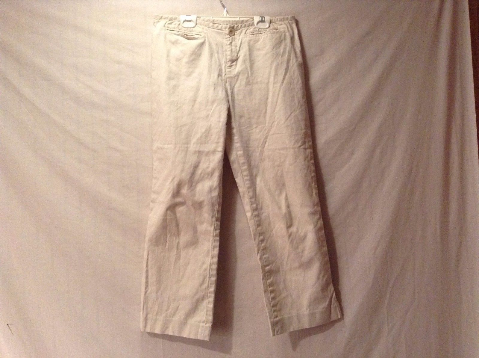 Great Condition Banana Republic Martin Cotton Blend Size 8 Cream Pants Stretch