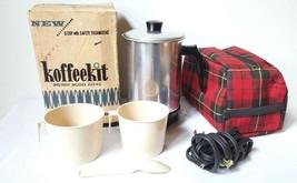 Vintage  60's Instant Koffeekit Coffee Make W/ Original Carry Case in Or... - $21.84
