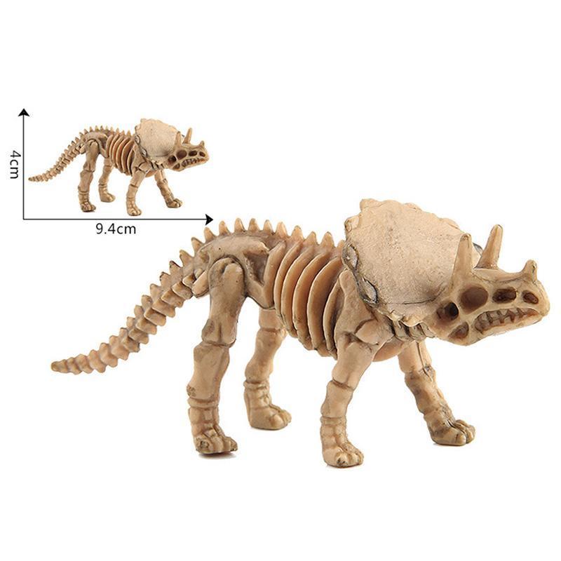 12 pcs Plastic Dinosaur Skeleton Simulation Dino Figure Model Kids Boys Toy Gift