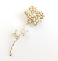 906a4feaa2e Vintage Coro Flower Ladies Brooch Faux Pearls Gold Tone Costume Jewelry Pin  - $24.95