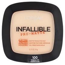 L'Oreal Paris Infallible Pro-Matte Powder 100 Porcelain  9 g - $17.12
