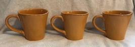 Set of 3 Pier 1 Imports Elemental HONEY 16 oz Coffee Mugs Earthenware Cups EUC - $24.99