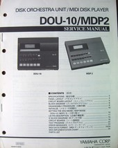 Yamaha DOU-10 MDP-2 Midi Disk Recorder Original Service Manual Schematic... - $39.59